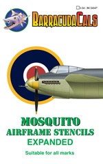 BC24167 Mosquito Airframe Stencils - Expanded