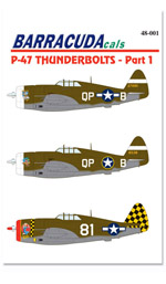 BC48001 P-47 Thunderbolts - Part 1 - 1/48 Scale