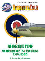 BC48166 Mosquito Airframe Stencils - Expanded