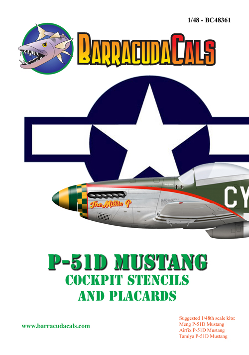 BC48361  P-51D Cockpit Stencils and Placards