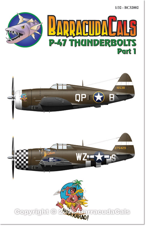 BC32002 P-47 Thunderbolts - Part 1 - 1/32 Scale