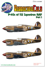 BC32005 P-40s of 112 Squadron RAF - Part 1 - 1/32 Scale