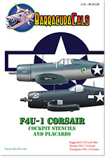 BC32129 F4U-1 Corsair Cockpit Stencils and Placards