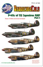 BC72005 P-40s of 112 Squadron RAF - Part 1 - 1/72 Scale