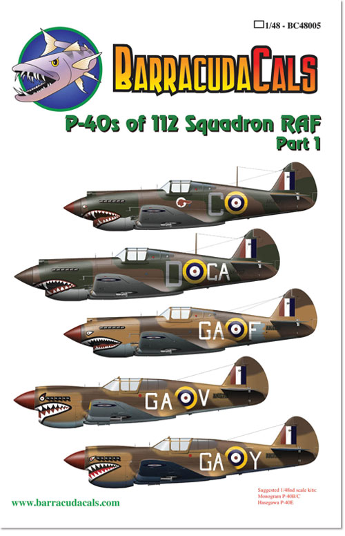 BC48005 P-40s of 112 Squadron RAF - Part 1 - 1/48 Scale
