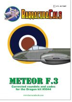 BC72007 Meteor F.3 Corrected Roundels and Codes - 1/72 Scale